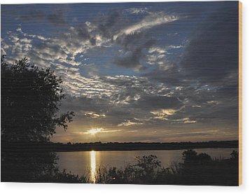 Oklahoma Lake Wood Print