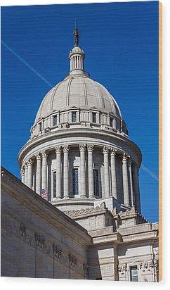 Oklahoma State Capitol Dome Wood Print by Doug Long