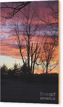 Oklahoma Sunset 3 Wood Print
