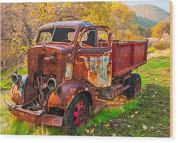 Old And Broken Wood Print by Marc Crumpler