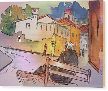 Old And Lonely In Portugal 07 Wood Print by Miki De Goodaboom