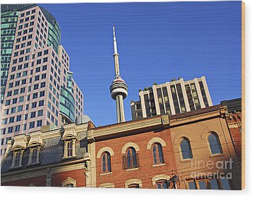 Old And New Toronto Wood Print by Elena Elisseeva
