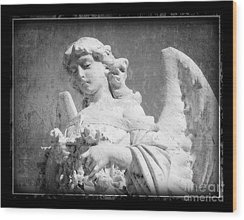 Wood Print featuring the photograph Old Angel by Jeanne  Woods