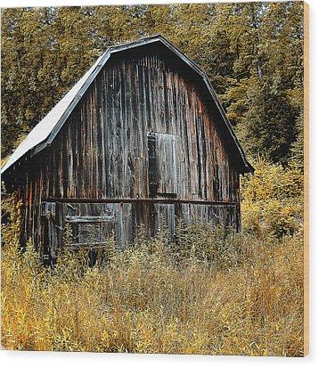 Old Barn Wood Print by Gordon Engebretson