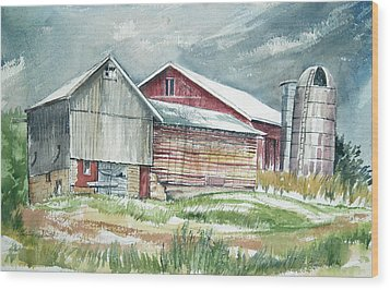 Old Barn Wood Print by Rose McIlrath