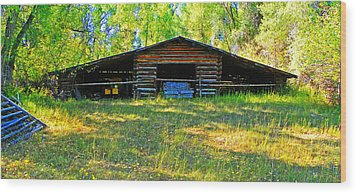 Old Barn With Wings Wood Print by Lenore Senior and Dawn Senior-Trask