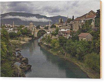 Old Bridge Of Mostar Wood Print by Ayhan Altun