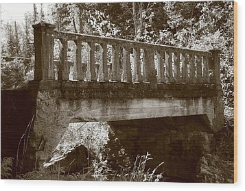 Wood Print featuring the photograph Old Bridge by Paula Brown