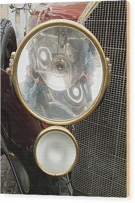 Old Car Lamp Wood Print by Odon Czintos