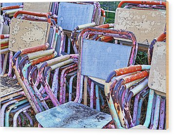 Old Chairs Wood Print by Joana Kruse