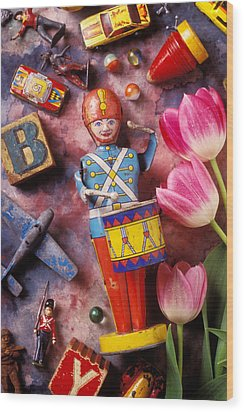 Old Childrens Toys Wood Print by Garry Gay