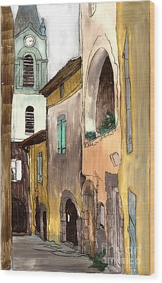 Old City Wood Print
