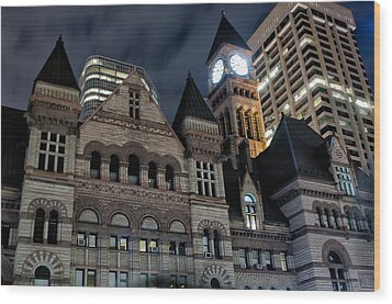 Old City Hall Wood Print by Luba Citrin