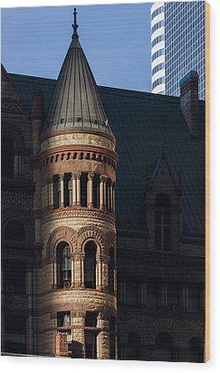 Old City Hall Turret Wood Print by Matt  Trimble