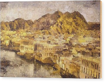 Old City Of Muscat Wood Print
