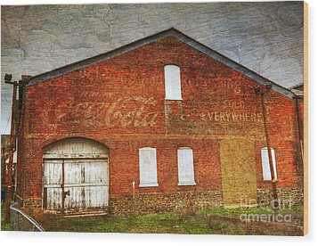 Old Coca Cola Building Wood Print by Paul Ward