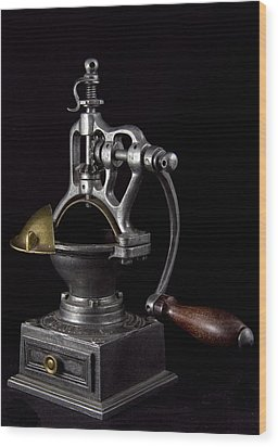 Old Coffee Machine Wood Print by Zafer GUDER