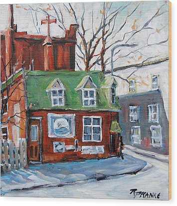 Old Corner Store Montreal By Prankearts Wood Print by Richard T Pranke