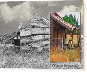 Old Cottage Diptych 2 Wood Print