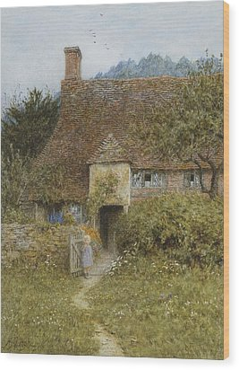 Old Cottage Witley Wood Print by Helen Allingham