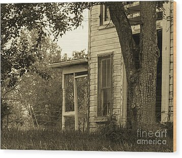 Old Country Porch Wood Print by Joyce Kimble Smith