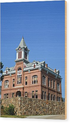 Old Courthouse Powhatan Arkansas 1 Wood Print by Douglas Barnett
