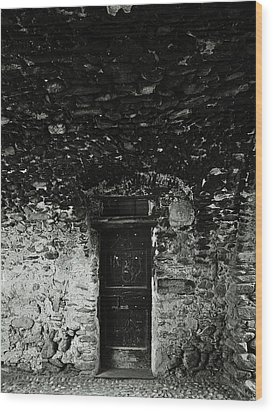 Old Door Under The Porch Wood Print by Ettore Zani