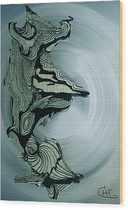 Old Drawing Called Serenity 2   Wood Print by Colette V Hera  Guggenheim