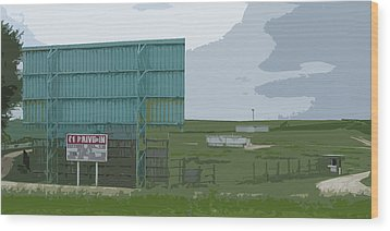 Old Drive In Wood Print by Craig Carlson