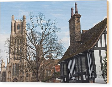 Wood Print featuring the photograph Old English House by Andrew  Michael