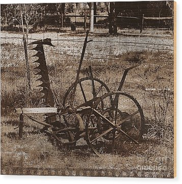 Wood Print featuring the photograph Old Farm Equipment by Blair Stuart