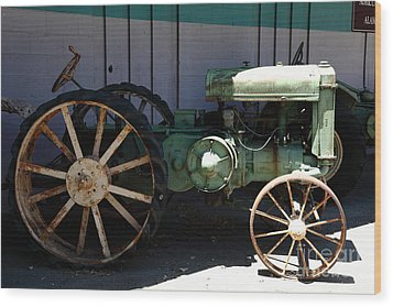 Old Farm Tractor . 5d16619 Wood Print by Wingsdomain Art and Photography