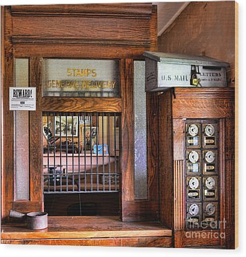 Old Fashion Post Office Wood Print by Paul Ward