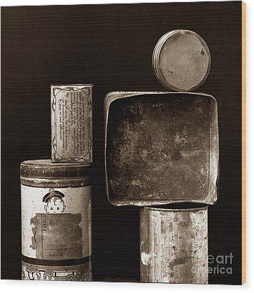 Old Fashioned Iron Boxes. Wood Print by Bernard Jaubert