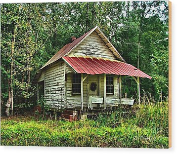 Old Florida Vi Wood Print by Julie Dant