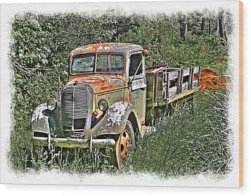Wood Print featuring the photograph Old Ford Flatbed by William Havle