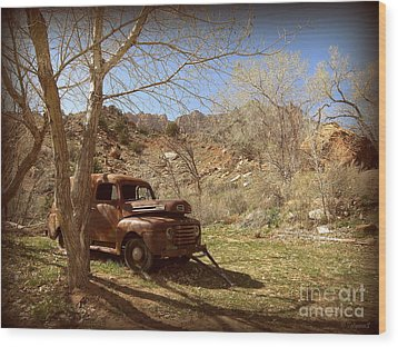 Wood Print featuring the photograph Old Ford by Tanya  Searcy