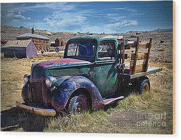 Old Ford V8 Truck Wood Print