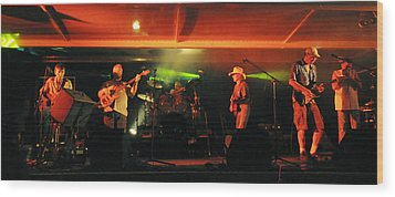 Old Friends Band Reunion Wood Print by Mary Frances