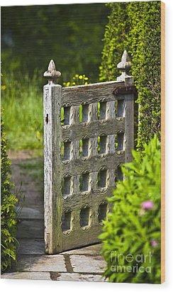 Old Garden Entrance Wood Print by Heiko Koehrer-Wagner
