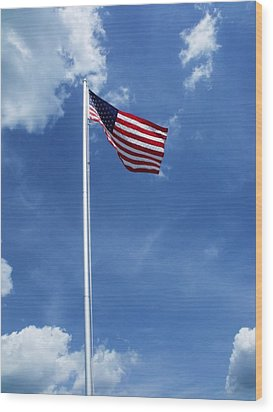 Old Glory Wood Print by Anna Villarreal Garbis