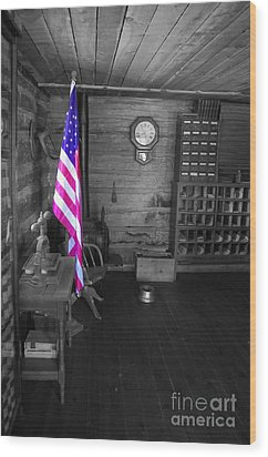 Wood Print featuring the photograph Old Glory by Deniece Platt
