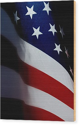 Old Glory - The Flag Of A Proud Country Wood Print by Steven Milner