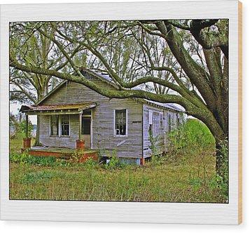 Old Gray House Wood Print by Judi Bagwell