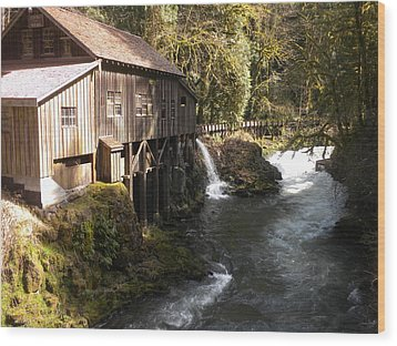 Old Grist Mill Wood Print by Garry Kaylor