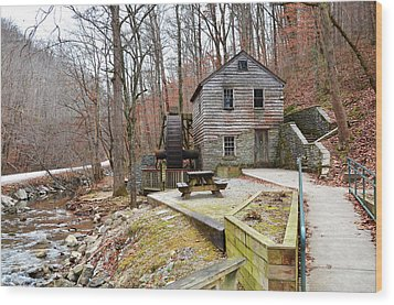 Wood Print featuring the photograph Old Grist Mill by Paul Mashburn