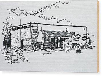 Old Grocery Store - W. Delray Beach Florida Wood Print by Robert Birkenes