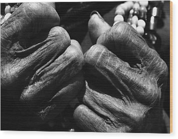 Old Hands 2 Wood Print by Skip Nall