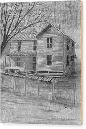 Old Homeplace Wood Print by Julie Brugh Riffey