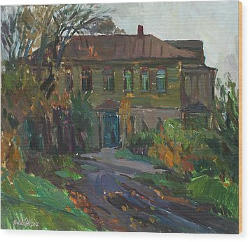 Old House Wood Print by Juliya Zhukova